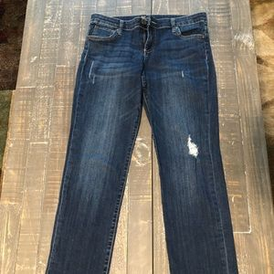 Kut From the Kloth Lightly Distressed Dark Jeans